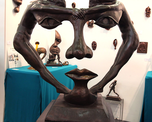Sculpture by [SOLO] exhibitor Michael Alfano of Alfano Sculpture.