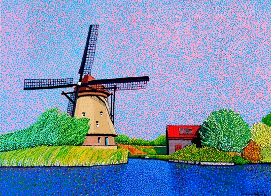Kinderdijk Netherlands by Juchul Kim