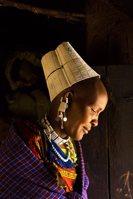Naita, Maasai Chiefs Fifth Wife, Tanzania by Jean Merrill
