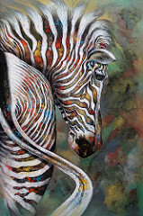 The Tinted Zebra (III) by Pramila Gira