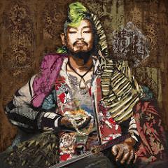 Asian Male Warrior by Kristi Abbott