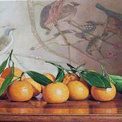 Oranges with Birds by Yong Chun Yin