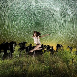 Star Trail Dancer by Scot Wittman