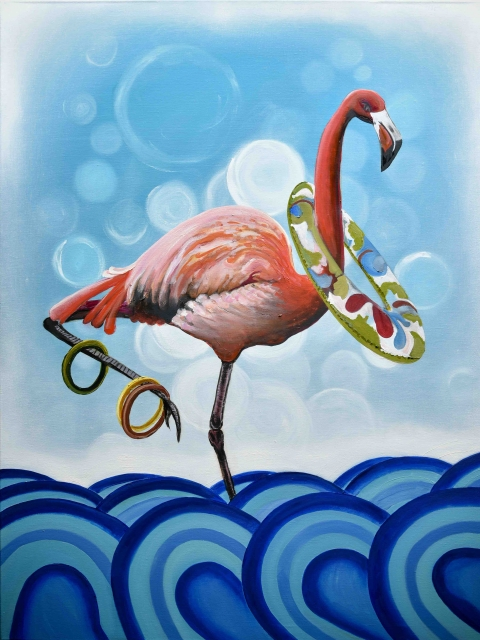 Crazy Flamingo by George Magiras