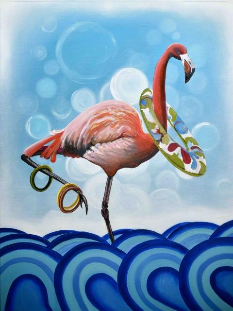 Crazy Flamingo by George Magiras