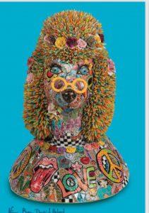Mosaic Poodle by Nira Ben David Peled
