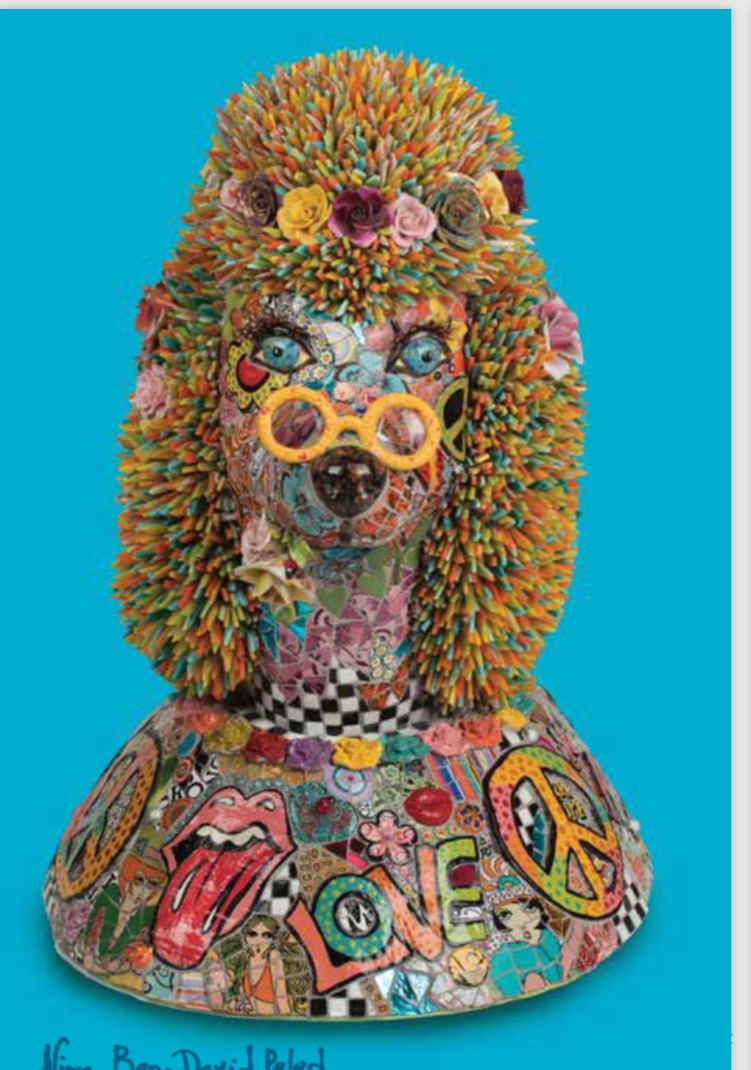 Mosaic Poodle by Nira Ben David Peled