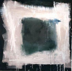 Pink White Square by Ellen Schiff